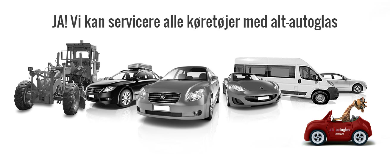 Alt-autoglas kan servicere alle køretøjer til forrude og stenslag reparationer