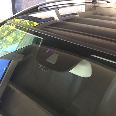 Kalibrering af bilens udstyr i forruden
